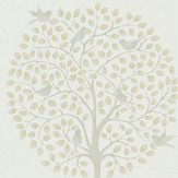 Sanderson Bay Tree Linen / Dove Wallpaper