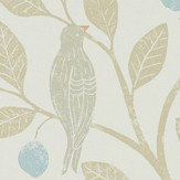 Sanderson Damson Tree Denim / Barley Wallpaper