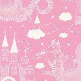 Majvillan Dragon Sky Pink Wallpaper - Product code: 103-03