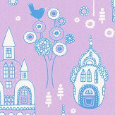 Majvillan Palace Garden Purple Wallpaper