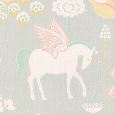 Majvillan True Unicorns Grey Wallpaper