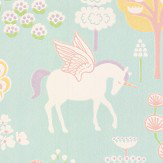 Majvillan True Unicorns Turquoise Wallpaper - Product code: 116-02