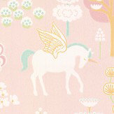Majvillan True Unicorns Pink Wallpaper - Product code: 116-03