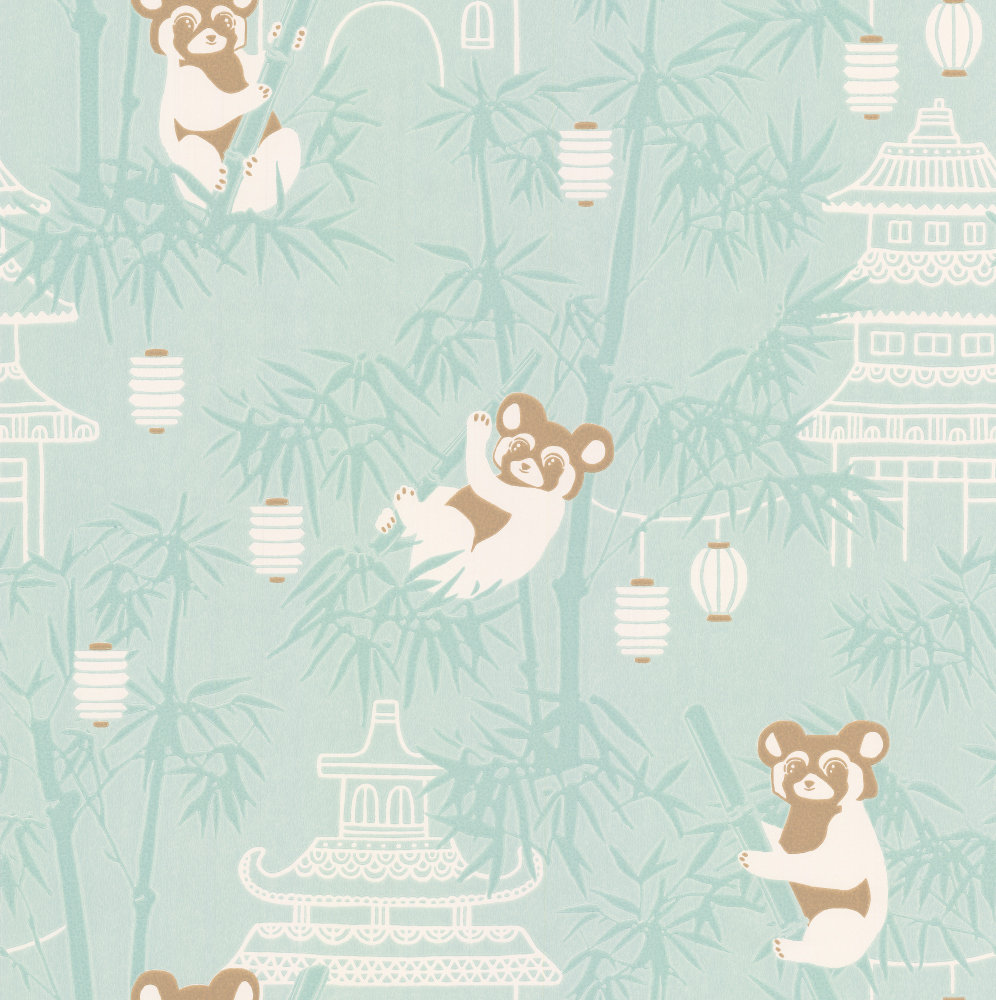 Majvillan Bambu Turquoise Wallpaper - Product code: 120-02