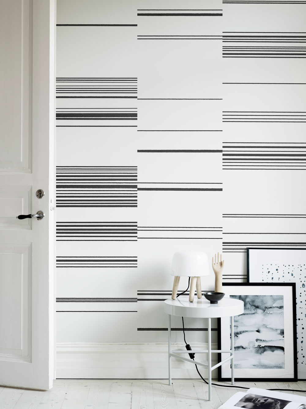 Sandberg Kallio Black / White Wallpaper - Product code: 634-01