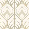 Galerie Leaf Trail Beige Wallpaper