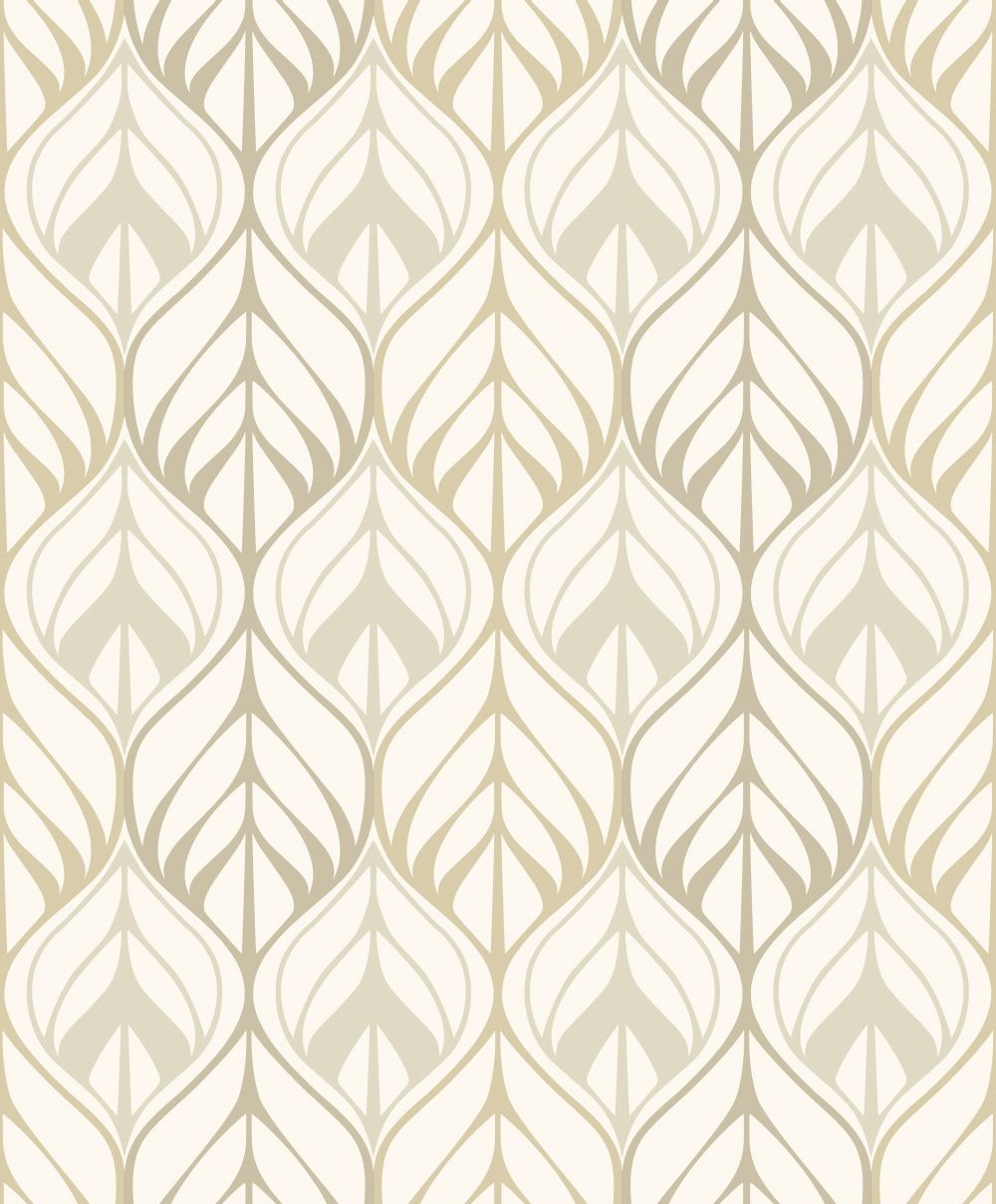 Galerie Leaf Trail Beige Wallpaper main image