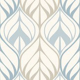 Galerie Leaf Trail Blue  Wallpaper