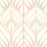 Galerie Leaf Trail Pale Pink Wallpaper - Product code: NA3004