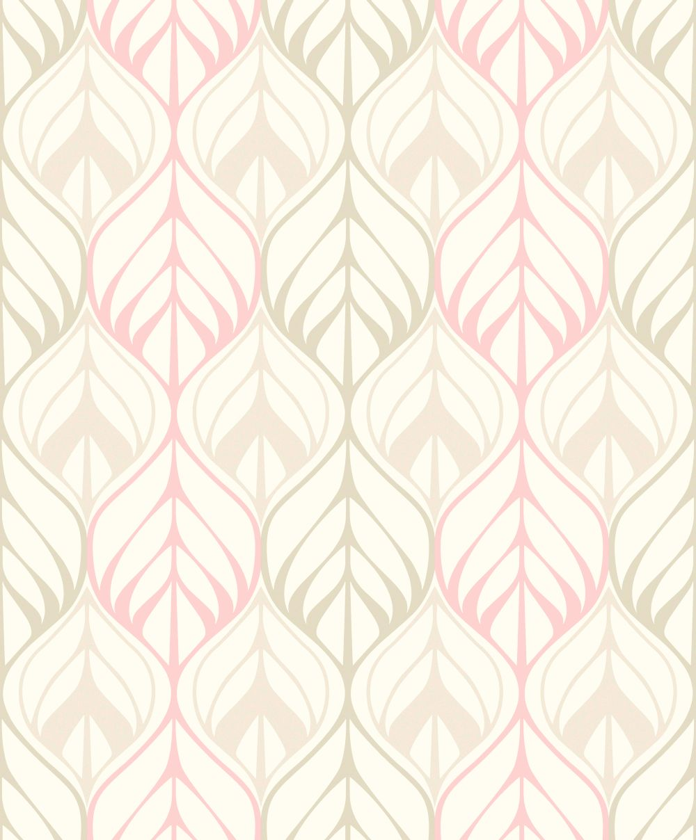 Galerie Leaf Trail Pale Pink Wallpaper Main Image