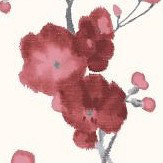 Galerie Watercolour Cherry Blossom Red Wallpaper