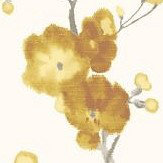 Galerie Watercolour Cherry Blossom Yellow Wallpaper