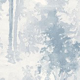 Galerie Watercolour Forest Blue Wallpaper