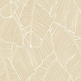 Galerie Exotic Palms Metallic Gold Wallpaper