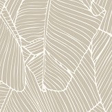 Galerie Exotic Palms Metallic Taupe Wallpaper