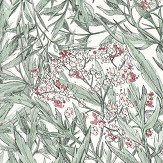 Sandberg Malin Green / Pink Wallpaper - Product code: 225-38