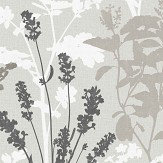 Albany Wild Flowers Grey Wallpaper