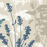 Albany Wild Flowers Teal Wallpaper