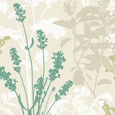 Albany Wild Flowers Green Wallpaper