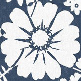 Albany Bold Floral Navy Blue Wallpaper
