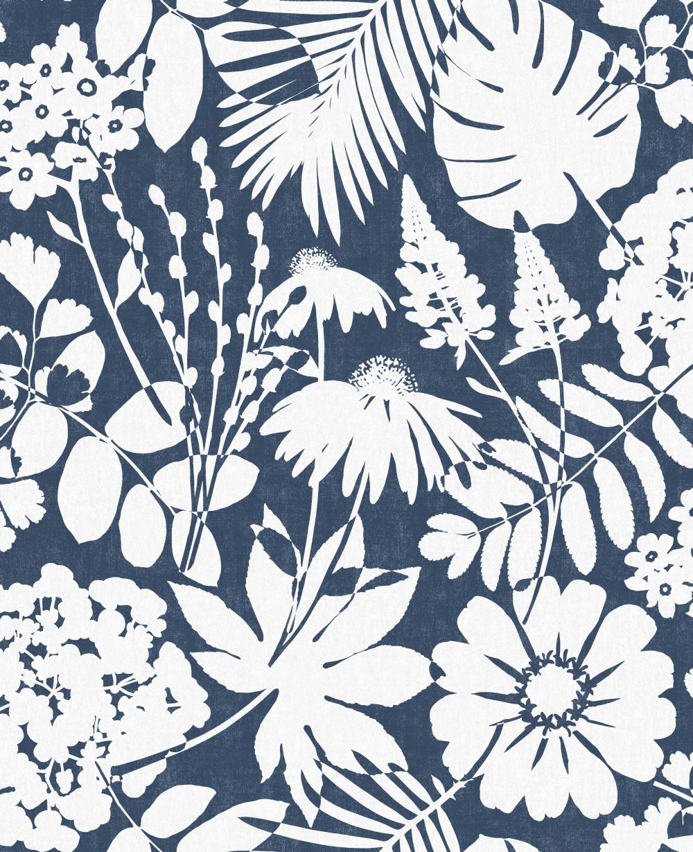 Albany Bold Floral Navy Blue Wallpaper - Product code: CB42108