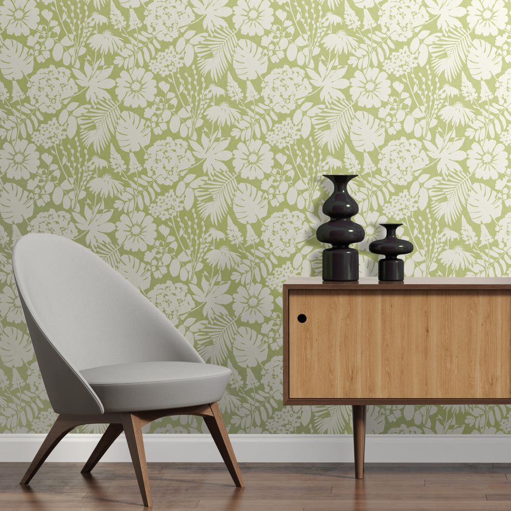 Albany Bold Floral Green Wallpaper - Product code: CB42110