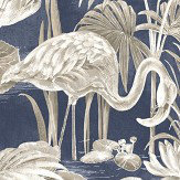 Albany Lagoon Flamingo Blue Wallpaper - Product code: CB42122