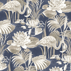 Albany Lagoon Flamingo Blue Wallpaper main image