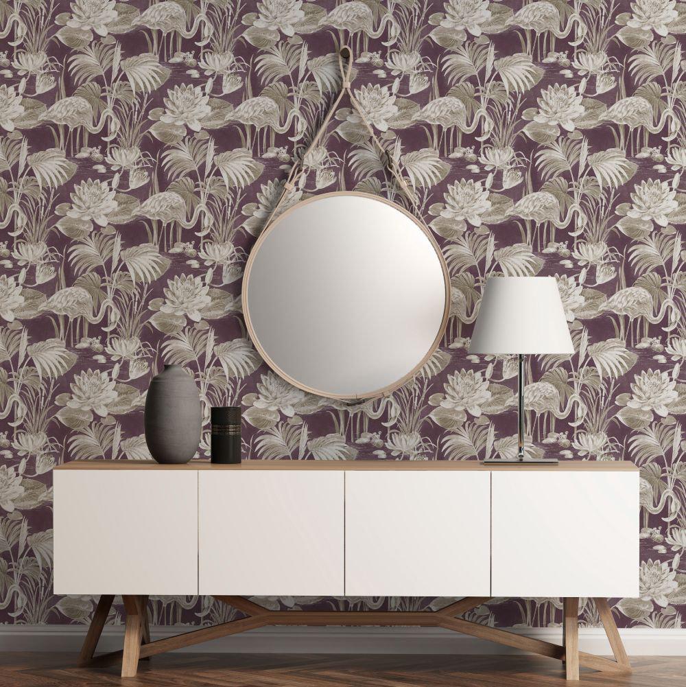 Albany Lagoon Flamingo Berry Wallpaper - Product code: CB42123