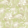 Albany Lagoon Flamingo Green Wallpaper main image
