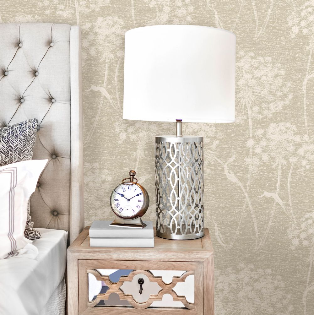 Dandelion Wallpaper - Taupe - by Albany