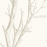 Albany Silhouette Tree White Wallpaper - Product code: CB42134