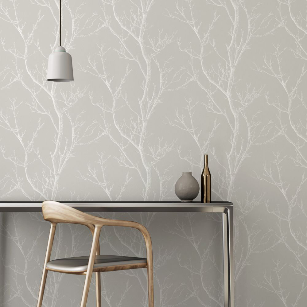 Albany Silhouette Tree Grey Wallpaper - Product code: CB42135