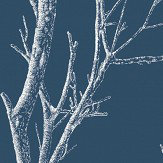 Albany Silhouette Tree Navy Wallpaper - Product code: CB42136