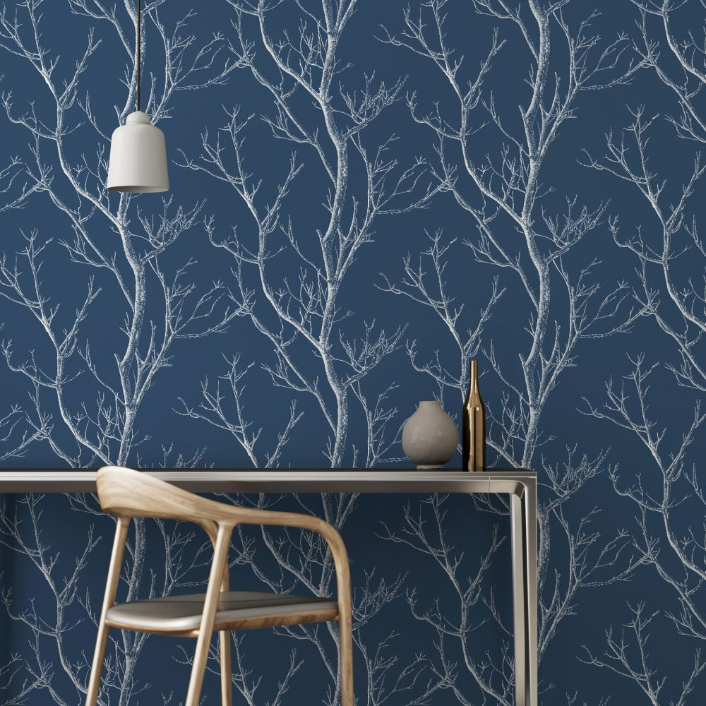 Navy wallpaper for walls wallpaper sportstle for Navy blue wallpaper for walls