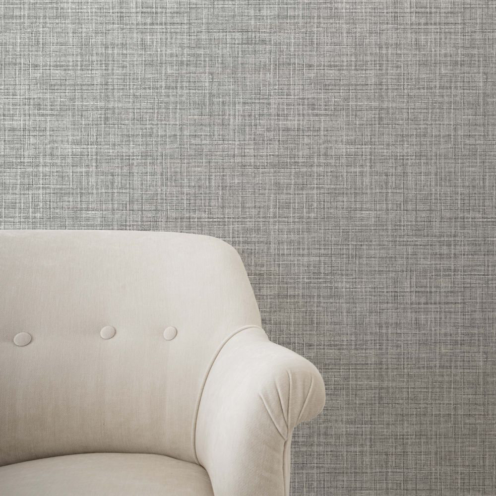Albany Crosshatch Texture Ebony Wallpaper - Product code: CB42146