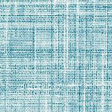 Albany Crosshatch Texture Teal Wallpaper