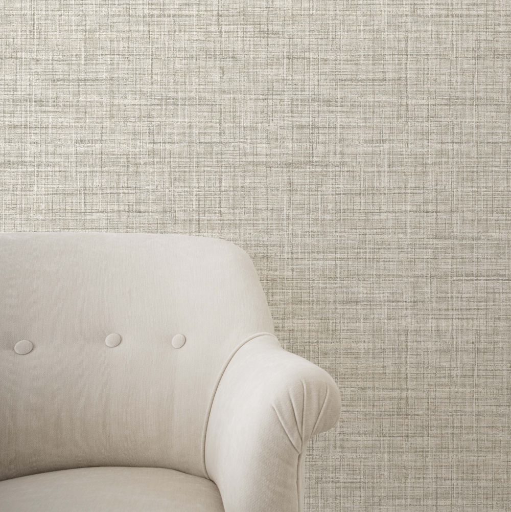 Crosshatch Texture Wallpaper - Greige - by Albany