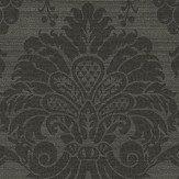 Zoffany Crivelli Bone Black Wallpaper