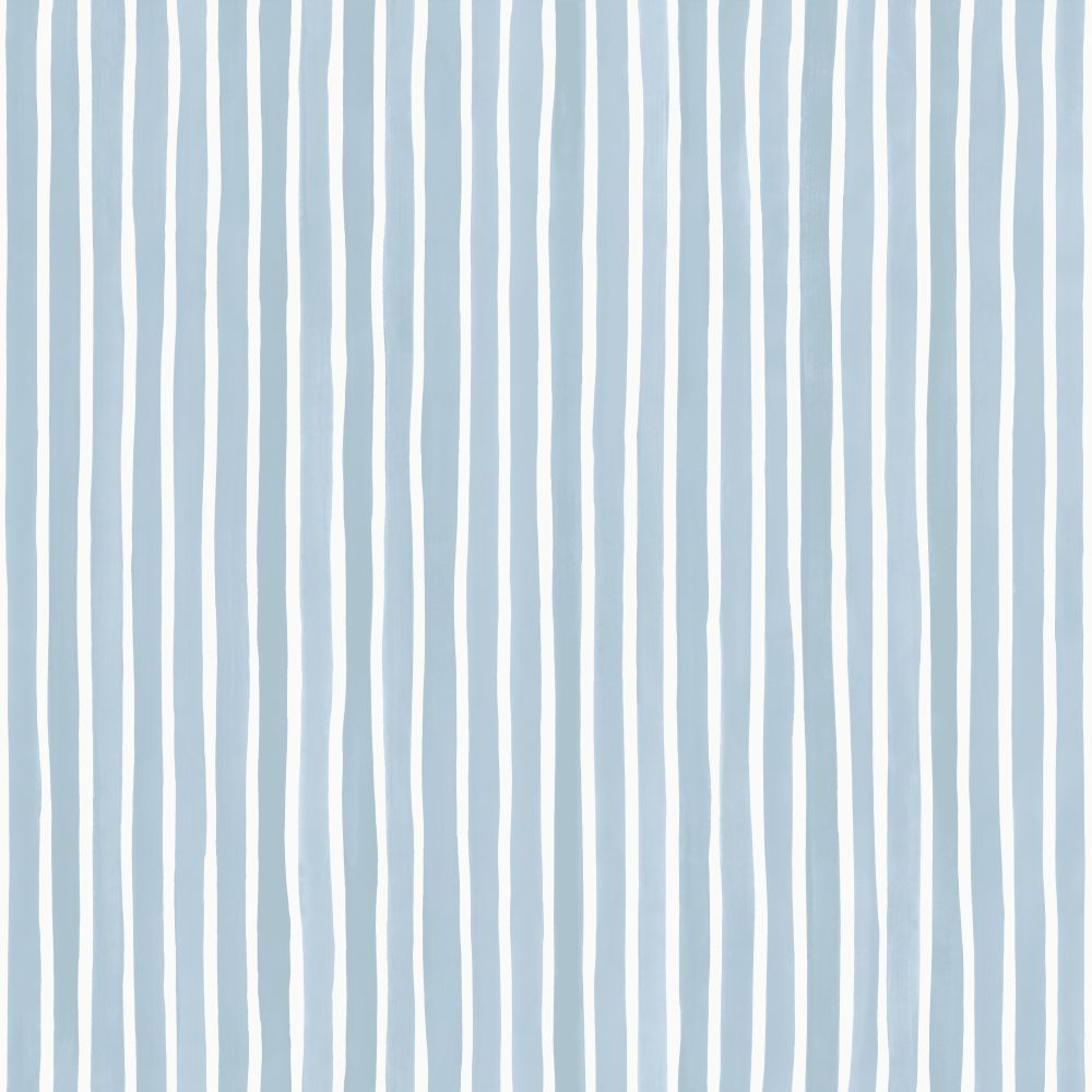 Cole & Son Croquet Stripe Blue Wallpaper main image