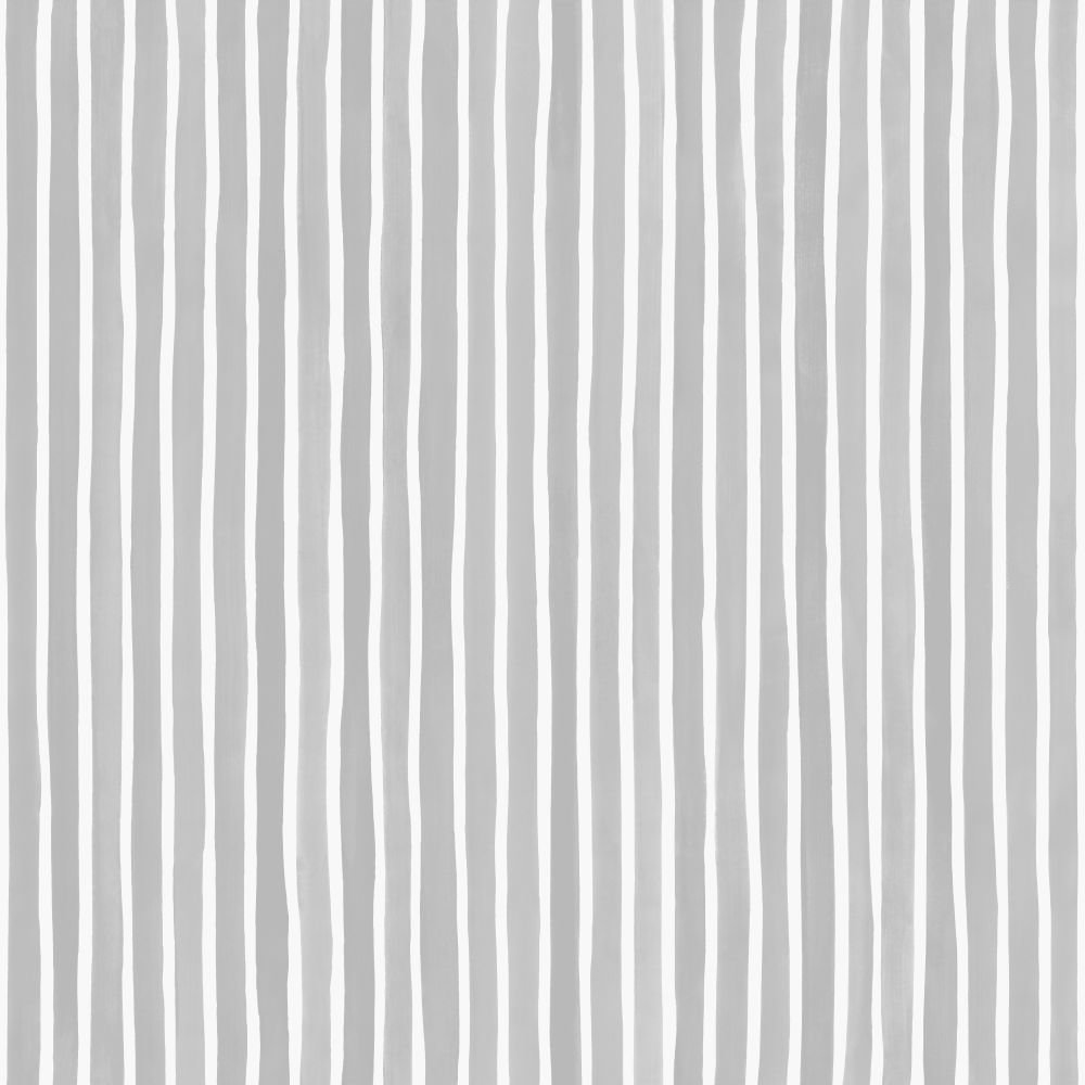 Cole & Son Croquet Stripe Soft Grey Wallpaper - Product code: 110/5028