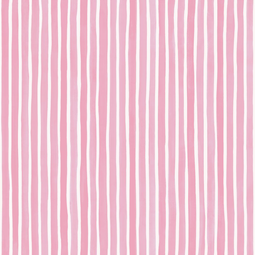 Cole & Son Croquet Stripe Soft Pink Wallpaper - Product code: 110/5029