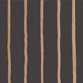 Cole & Son College Stripe Charcoal Wallpaper