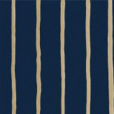 Cole & Son College Stripe Ink Wallpaper