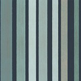 Cole & Son Carousel Stripe Frosty Green Wallpaper