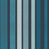 Cole & Son Carousel Stripe Blue Wallpaper