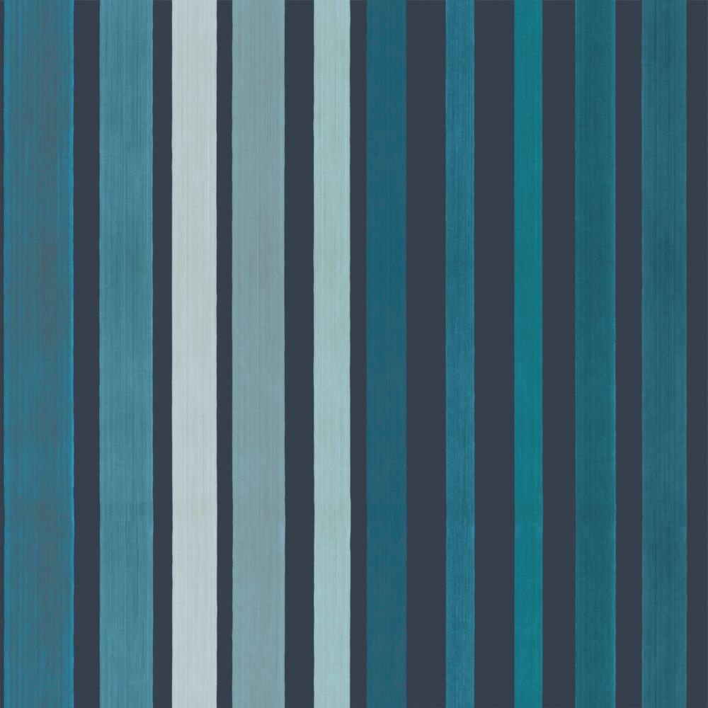 Cole & Son Carousel Stripe Blue Wallpaper main image