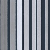 Cole & Son Carousel Stripe Grey Wallpaper
