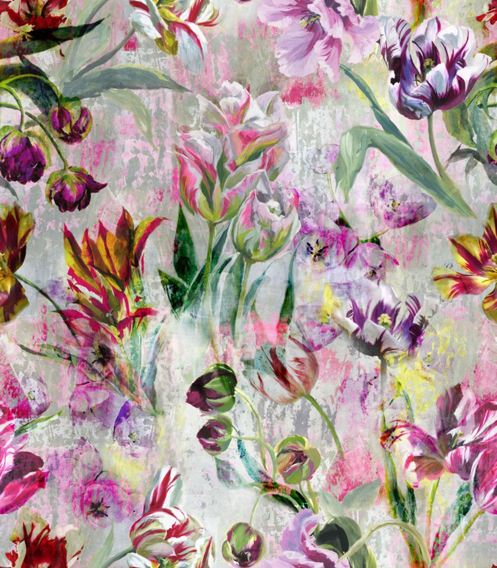 Tulipa Stellata Mural - Multi - by Designers Guild