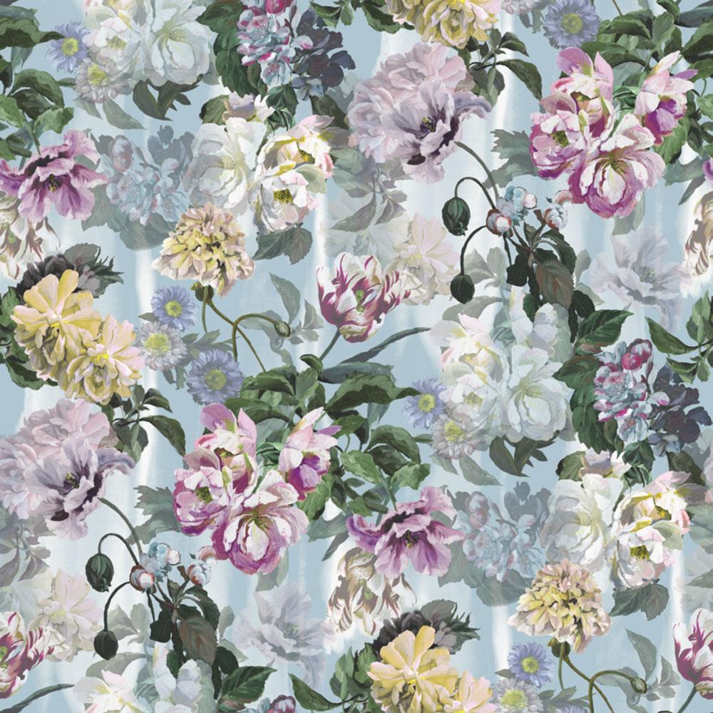 Delft Flower Grande Mural - Sky - by Designers Guild